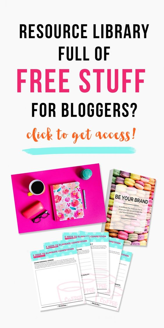 Want access to tons of colorful, free resources to help you grow your blog, business and brand? This library for lady bosses and bloggers is brimming with worksheets, pretty stock photos, workbooks, templates and more! For FREE, of course.:
