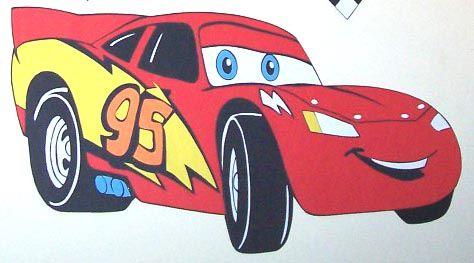 Relâmpago McQueen. Tema Carros. Feito de cartolina. By Rose Mourão
