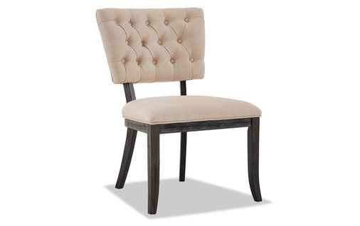 Set Of 2 Verna Brown Cream Tufted Dining Chairs Dining Chairs
