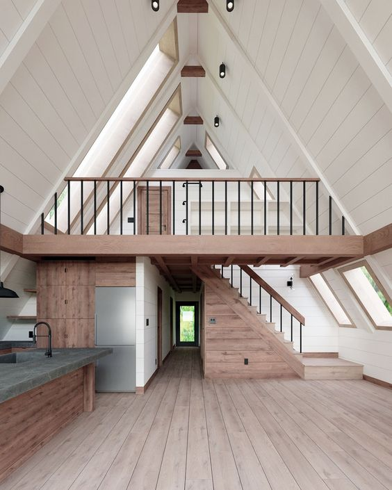 wooden garage loft design ideas