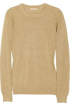 Michael Kors|Metallic knitted sweater|NET-A-PORTER.COM - StyleSays