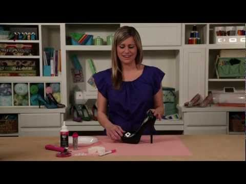 Samantha @ Jo-Ann shows how to add glitter, rhinestones, or other embellishments to your shoes :)