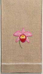 Orchid Helene<br>Hand Towel - Natural Linen