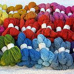 Choix de laine Hespa pour le châle Compostelle por eclectic gipsyland