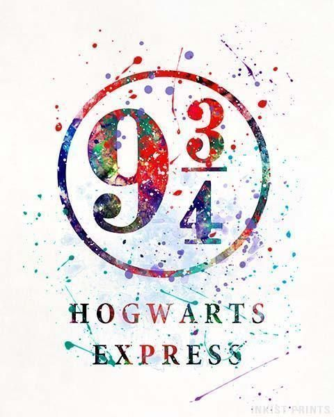 Hogwarts Express Harry Potter Print Harry Potter Watercolor Harry Potter Poster Harry Potter Print