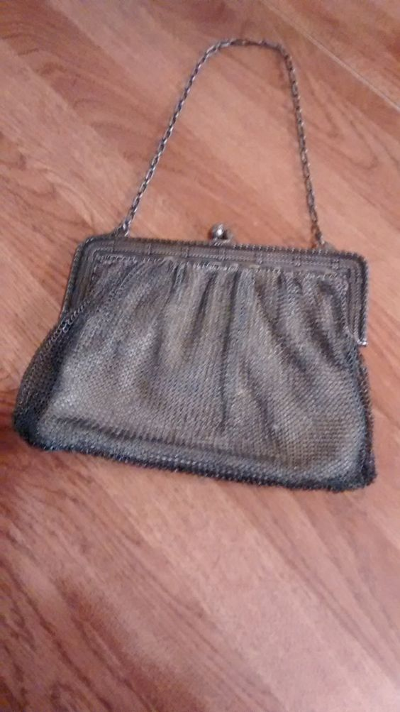 Sterling Silver Mesh Chain Vintage Hand Bag/Purse by StephsOldSoulAntique on Etsy