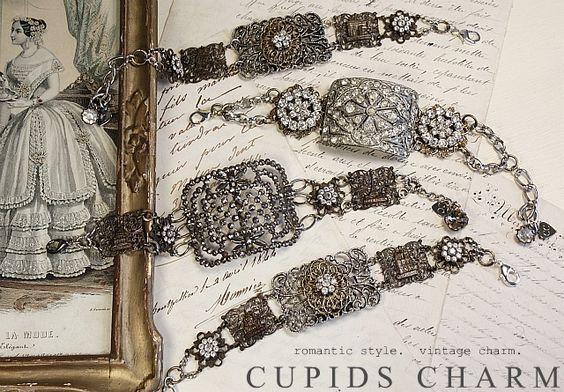 bracelets made from old belt buckles~ via Cupids Charm.