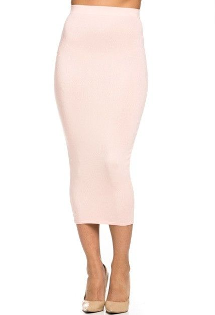Yes, you NEED this! Our Daphne Knit basic midi pencil skirt is a basic must have in every girls closet! Take your look from basic to glam in seconds! Wear with a basic top and flats for a casual day t