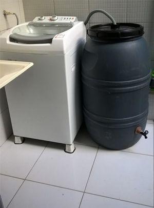 Sistema para reutilização da água da máquina de lavar