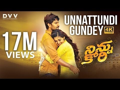 Ninnu Kori Telugu Movie Full Songs 4k Unnattundi Gundey Video Song Nani Nivetha Thomas Aadhi Youtube Songs Movie Songs Ninnu Kori Movie