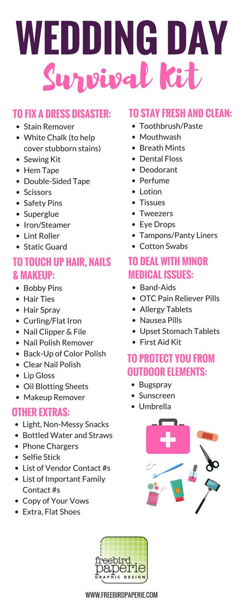 What should be in your wedding emergency kit? Find out!   Member ...