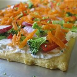 Appetizers And Snacks, Veggie Pizza, Crescent-Roll Dough, Baked In A Log, Becomes The Perch For A Ranch-Dressing Spread And Fresh, Crunchy Vegetables. . http://newestrecipes.com food