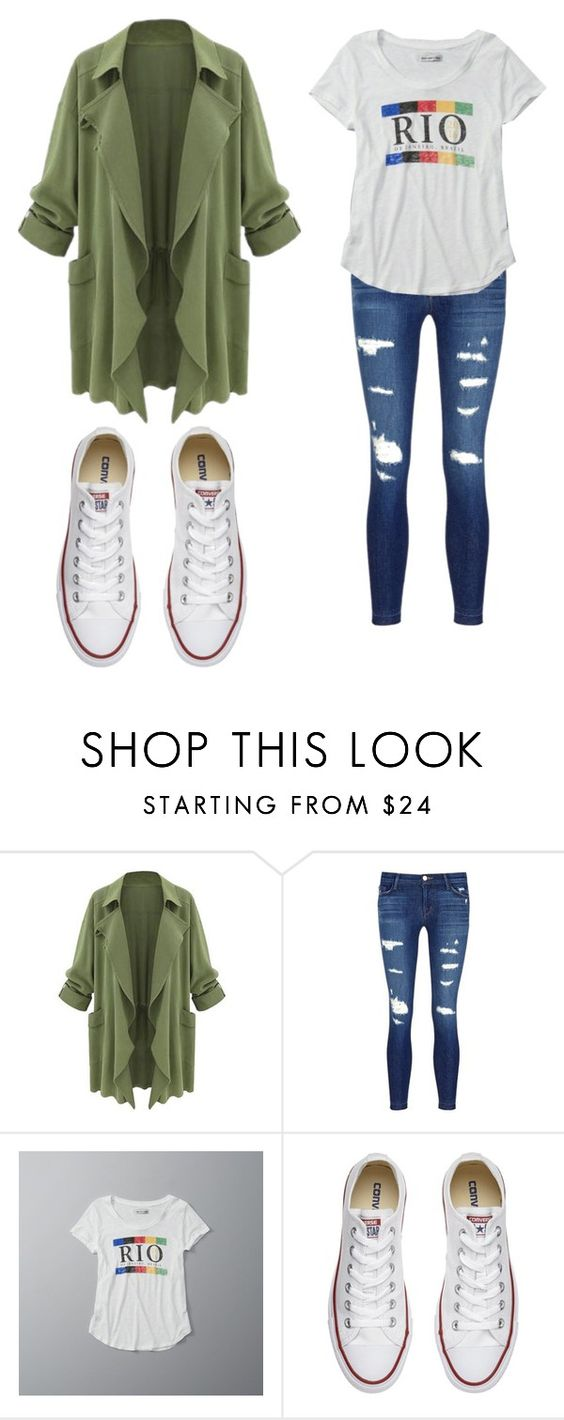 """school night"" by herewegoagain64 on Polyvore featuring J Brand, Abercrombie & Fitch and Converse"