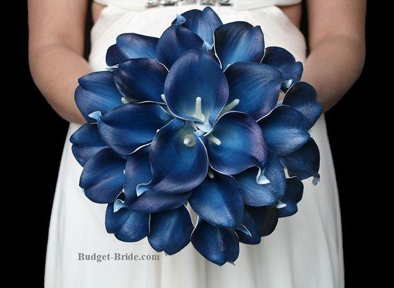 Navy Blue Calla Lily Wedding Flowers