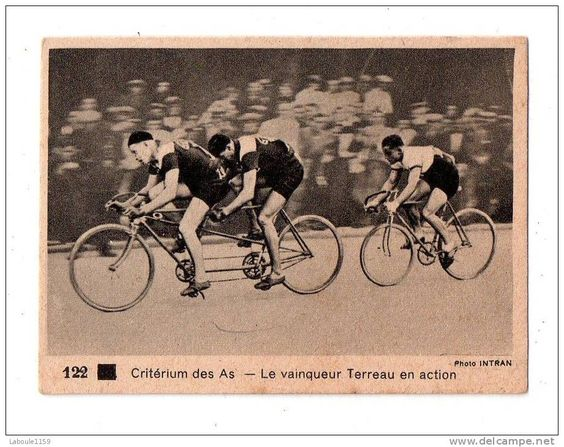 """IMAGE PUBLICITAIRE CHOCOLATERIE MATTE MONTPELLIER LIP KODAK : """"CRITERIUM DES AS Le Vainqueur TERREAU En Action Tandem""""   - Cycling"""