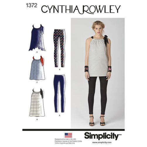 Simplicity Pattern 1372 Misses' Sportswear Cynthia Rowley Collection: