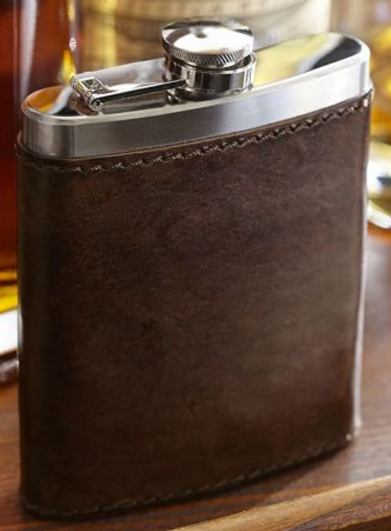 Saddle Leather Flask