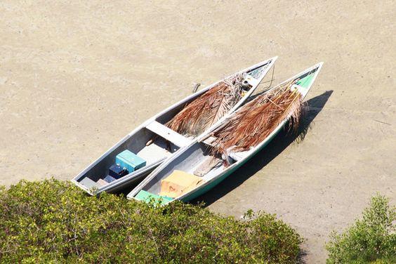 Farbe - Fishing Boats - Fineartprint gerahmt - ein Designerstück von T-ARTLounge bei DaWanda