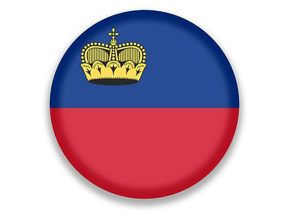 Resultado de imagen de bandera redonda liechtenstein