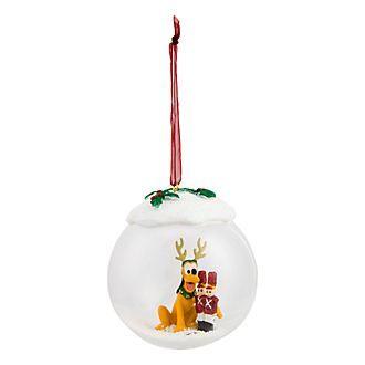 Boule de Noël en verre Pluto et soldats de plomb Disneyland Paris