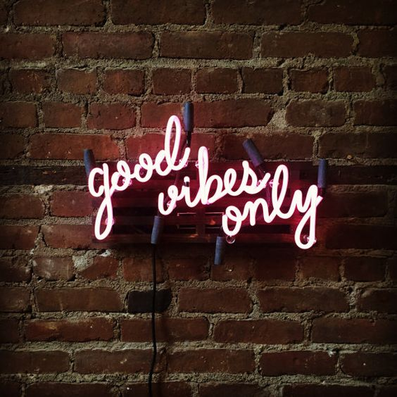 Good Vibes Only Mounted Neon Sign, Ready-Made: