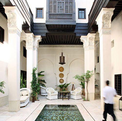 A beautiful  Moroccan courtyard house   design    Moroccan design    Pinterest   Courtyard house  Moroccan and MarrakeshA beautiful  Moroccan courtyard house   design    Moroccan design  . Moroccan Home Design. Home Design Ideas