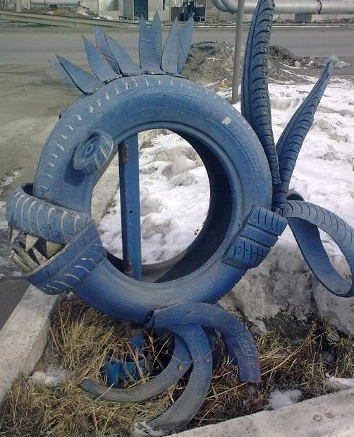 Reciclando neumáticos:.
