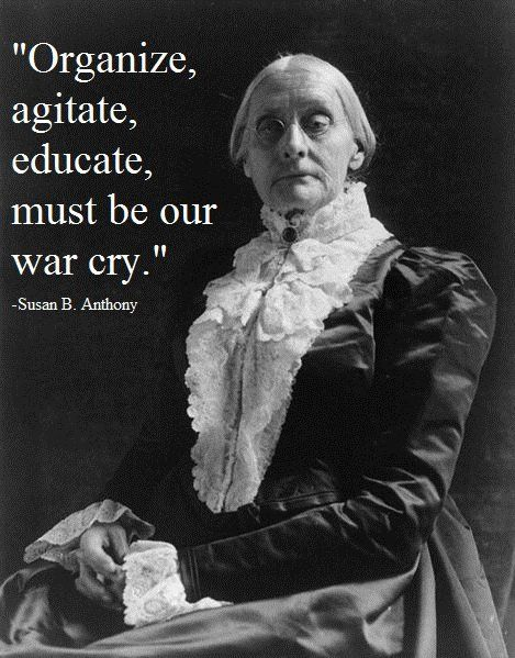 Susan B. Anthony, once caught voting before the 19th amendment passed, and was…
