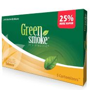 The Green Smoke® e-cigarette offers smokers an unmatched smoking experience. Its high smoke volume and rich, thick flavor, offers one of the most enjoyable smoking sensations available. Smoke as you would a traditional cigarette - simply take a puff and enjoy the flavor. http://www.greensmoke.com/bradleymatthews  Disc. Codes  coupon= disc5-11288 or disc10-11288  Save 10%