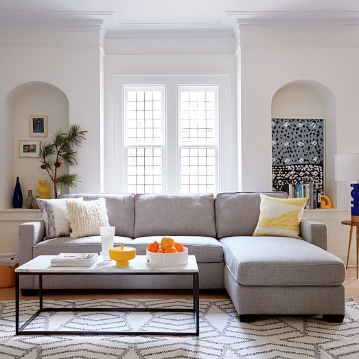 Henry Set 12 Left Arm Storage Chaise + Right Arm Sofa Sleeper Twill : left side chaise sectional - Sectionals, Sofas & Couches