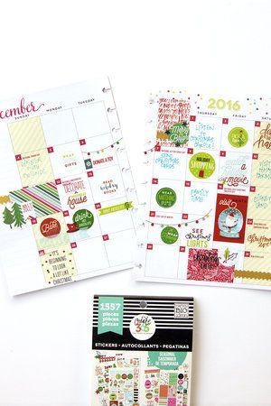 December Bucket List in the 'Be Bright' Happy Planner™ of mambi Design Team member Jennie McGarvey | me & my BIG ideas
