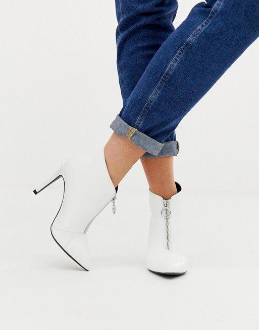 New Look heeled shoe boot with zip in