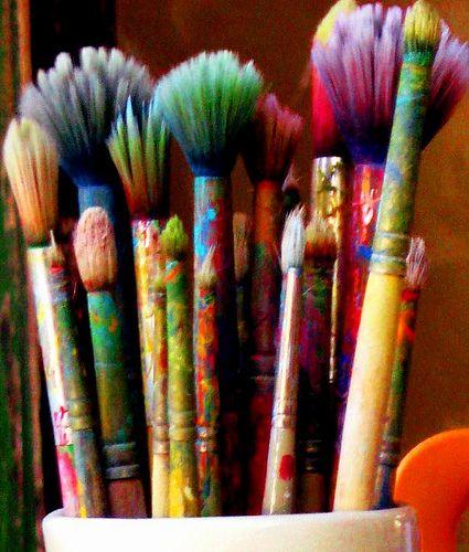 Artist Brushes by moonjazz, via Flickr