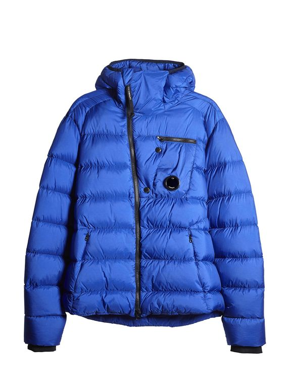 C.P. Company DD SHELL Sport Hooded Down Jacket in Blue | man