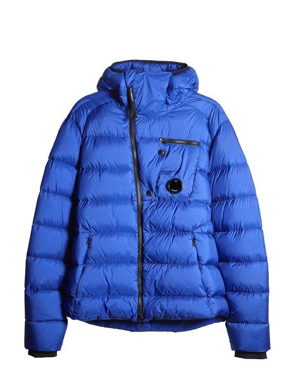 C.P. Company DD SHELL Sport Hooded Down Jacket in Blue   man