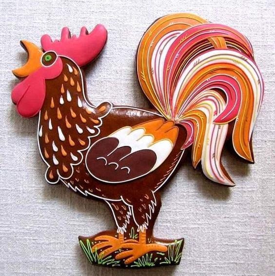 Rooster Cookies: