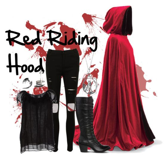 """""""Red Riding Hood"""" by hal3ymd ❤ liked on Polyvore featuring John Lewis, Aspesi, Bling Jewelry, Arizona, Halloween, red, Costume and RedRidingHood"""