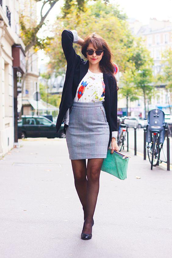 blog mode franais french fashion blog dollyjessy jupe crayon carreaux hm t