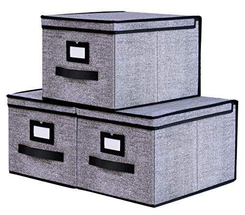 Homyfort 3 Stuck Faltbox Mit Deckel Faltbare Aufbewahrungsbox