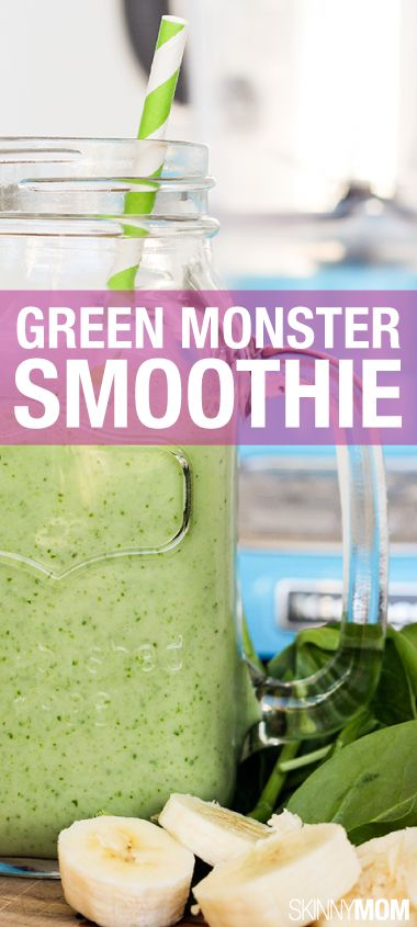 Go green! This smoothie is so yummy and packed with nutritious spinach ...