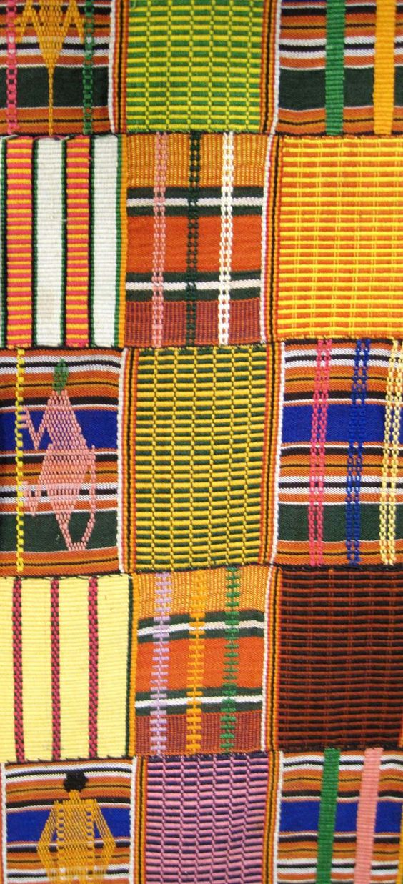 Africa | Kente Wrapper Detail . Ewe people. ca. 1960/70s.