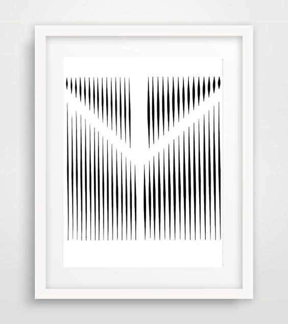 Line Art Abstract Print Black and White Art by LillaCabotPerry