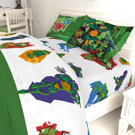 Tmnt Ninja Night Kids Bed Sheet Set Return Of The Teenage Mutant Ninja Turtles Walmart Com In 2021 Kids Bed Sheets Kid Beds Bed Sheet Sets