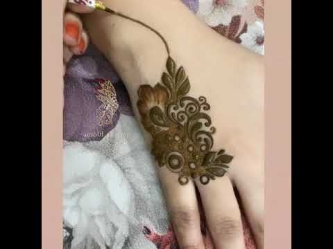 نقش حناء يجنننننن Youtube Henna Hand Tattoo Hand Henna Flower Tattoo