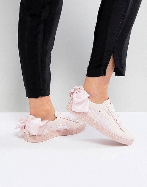 2019 Puma Suede Bow Mujeres Rosado Zapatos Mujer Puma