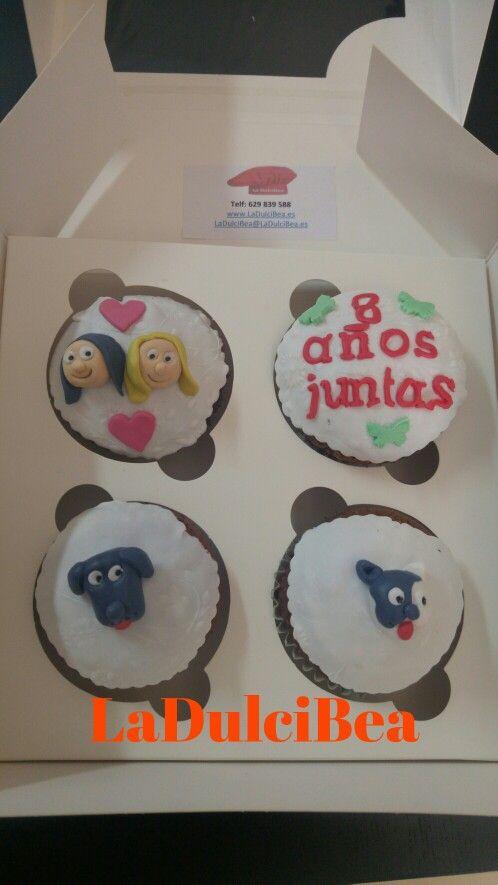 Estas cupcakes fueron para demostrar la amistad entre 2 amigas.