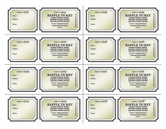 Doc1280663 Raffle Ticket Template Excel Printable numbered – Raffle Ticket Template