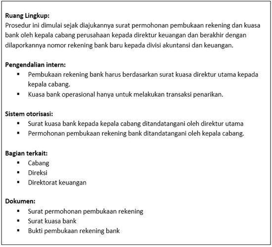 Standard Operating Procedure Cara Buka Rekening Bank Di 2020 Rekening Bank Akuntansi Keuangan Akuntansi