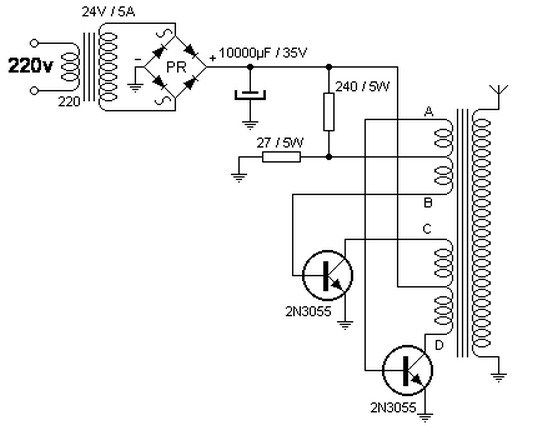 This Device Allows Up To 40 000 Volts By 220v Ac The Ac To Ac Converter Circuit Is Powered From The Main Converter Power Supply Circuit Electronic Engineering