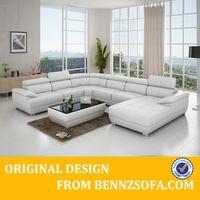 Baochi forma de U en sección sofá de cuero tendencia